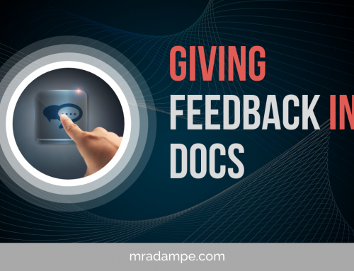 Giving Feedback In GDocs