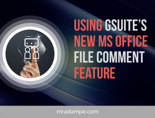 Using Gsuite's new MS Office File Comment Feature